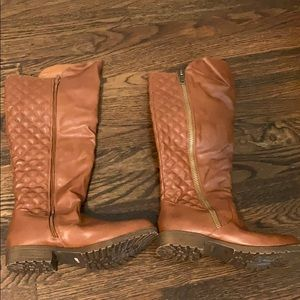 Bamboo brown Monterey riding boots